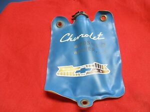 Corvette 1955 1956 Original Blue Windshield Washer Bag With Valve