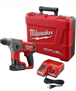 12v Cordless Lithium ion 5 8 In Sds plus Rotary Hammer Kit Milwaukee
