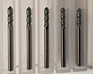 New 1 8 1250 Carbide 4 Flute Drill And Mill 90 Degree Point 5 pack Usa Made
