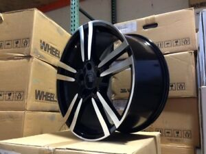 20 Black Machine Turbo 2 Turbo2 Wheels Rims Fits Vw Volkswagen Touareg Audi Q7