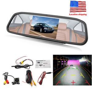4 3 1080p Tft Lcd Car Auto Dvr Mirror Dash Cam Rear View Camera Kits Bracket