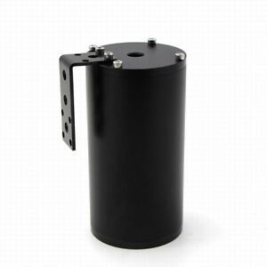 300ml Aluminum Black Oil Catch Can Tank Reservoir Breather With Blue Filter hose