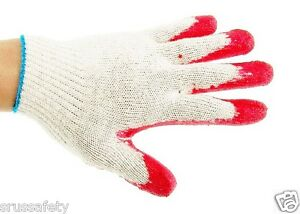 300 Pairs Red Latex Rubber Palm Coated Work Korea Safety Gloves korred300