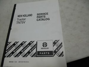 New Holland Tn75v Parts Manual