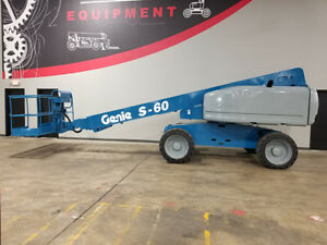 2006 Genie S60 500lb Pneumatic Boom Lift 4x4 Deutz Diesel Telescopic Man Lift