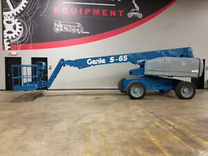 2004 Genie S65 500lb Telescopic Boom Lift 4x4 Diesel Man Lift With Jib