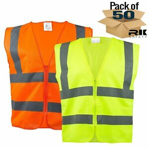Class 2 Two Tone Reflective Safety Vest Ansi Isea Standard Neon Orange lime