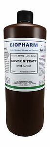 Silver Nitrate 0 100 Normal Standard Solution Quart 950 Ml