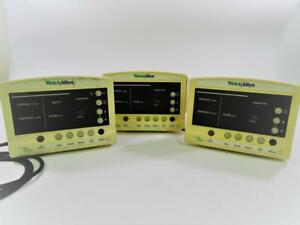 Lot Of 3 Welch Allyn Series 52000 Patient Vital Signs Monitors Powers On