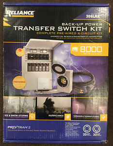 Reliance 306lrk Back up Transfer Switch Complete Pre wired 6 circuit Kit new