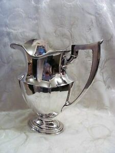 Gorham Sterling Silver Water Pitcher Plymouth 20th Century