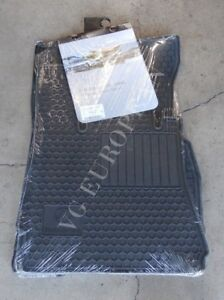 Mercedes Benz W221 S class Genuine Rubber All Season Floor Mat Set Black 6680674