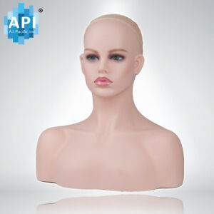 Plastic Mannequin Wig Head Bust Display Hat Cap Glasses Holder Stand Db 496 a