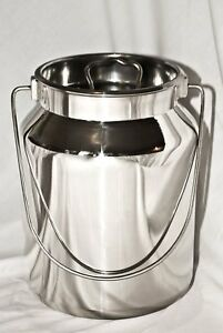 5 Qt Stainless Steel Milk Can Tote