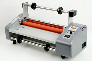 New 335mm Laminator Four Rollers Hot Roll Laminating Machine 220v