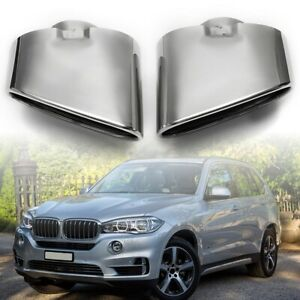 Pair Chrome Dual Exhaust Muffler End Pipe Tip 304 Stainless Steel For Bmw X5 E70