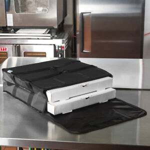 6 Pack Insulated Catering Pizza Food Delivery Carrier Hot Bag Box Black 18 16