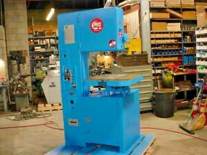 1968 Grob 18 Vertical Cutting Band Saw metal aluminum wood plastic Vari Speed