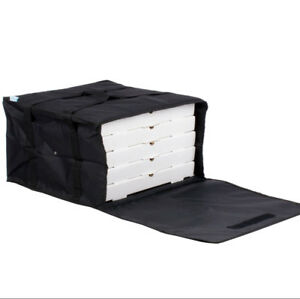 6 Pack Insulated Catering Pizza Food Delivery Carrier Bag Box Black 20 18 16