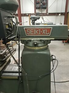 Seiki xl 3vh Milling Machine With Readout 10 X50 Table Knee Mill