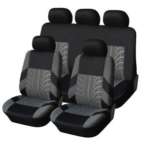 4 9pcs set Sports Car Seat Cover Breathable Full Front Seat Mat Pad Protector