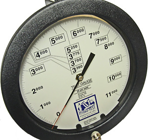 8 5 2018 Calibrated Dot Master Pressure Gauge Gage 11000 Psi Hydro Test 140 100