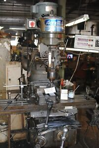 Acramill Turret Milling Machine Used In Good Condition jb08