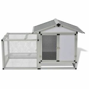 Vidaxl Hen House Chicken Coop With Run Ducks Poultry Hutch Home Eggs Nesting Box