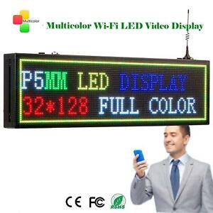 Leadleds Wifi Program Led Sign P5mm 32 128dots 7 Color Display Message Board