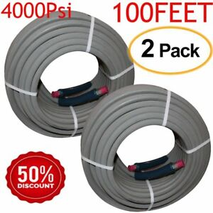 2pack Pressure Washer Hose 4000psi 3 8 Npt 100 Honda Hot Water Heavy Duty Ur