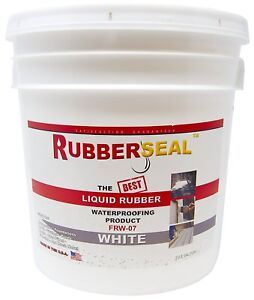 Roof Sealer Sealant Waterproof And Protective Liquid Rubber Coating White 2 Gal