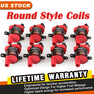 Red Ignition Coils Pack D585 Uf262 For Gm Chevy Cadillac Lt Ls Slt Wt 4 8 5 3l
