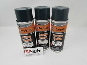 3 Cans New Kubota Oem Blue Green Touch Up Spray Paint 70000 00197