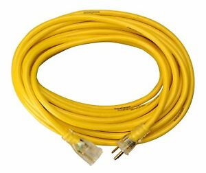 Yellow Jacket 2883 12 3 Heavy duty 15 amp Sjtw Contractor Extension Cord With Li