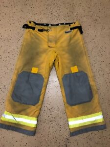 Osx Firefighter Suits Fire Turnout Pants Bunker Gear Lg 44 30 02 2011
