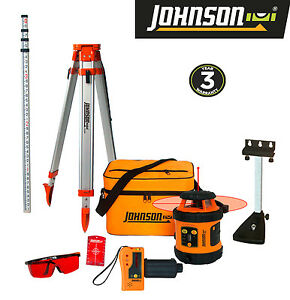 Johnson Self leveling Rotary Laser System Kit Free Shipping