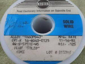 Kester 5 Pound Sn60pb40 Solder Qty Of 2