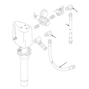 Graco 222062 18 Hose Fitting Kit For Wall mounted Mini Fire ball 225