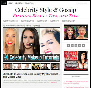 Celebrity Gossip Style Blog Website Business For Sale W Automatic Content