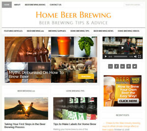 Homebrewing Craft Beer Brewing Blog Website Business For Sale Auto Updating