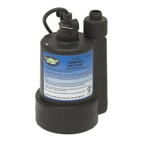 Submersible Utility Pump Water Transfer Portable Sump Flood Powerful Amp