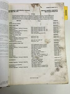 Cat Caterpillar 528 Grapple Skidder Service Shop Repair Book Manual 51s 78w 96c