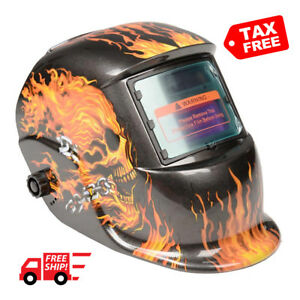 Auto darkening Welder Helmet Mask Safe Welding Ir Uv Protection Easy Head Adjust