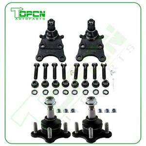 4pcs For 2004 2005 2006 2012 Chevrolet Colorado Front Upper Lower Ball Joints
