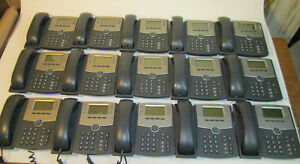 15 Cisco Spa508g Spa504g Ip Phone Poe And Lcd Display Read Description