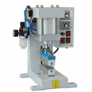 Pneumatic Hot Foil Stamping Machine Logo Leather Wood Automatic Stamper 220v Us