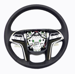 2015 2017 Cadillac Escalade Steering Wheel Black Lather Stitches 23360092