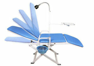 Portable Folding Dental Chair Cuspidor Tray Mobile Equipment Us