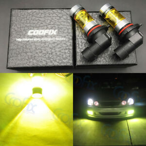 New 2x 9006 Hb4 4000k Yellow Green 100w High Power Cree Led Fog Lights Bulbs Drl