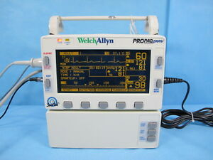 Welch Allyn Propaq Encore Patient Monitor 202el Nellcor Spo2 Nibp Ecg